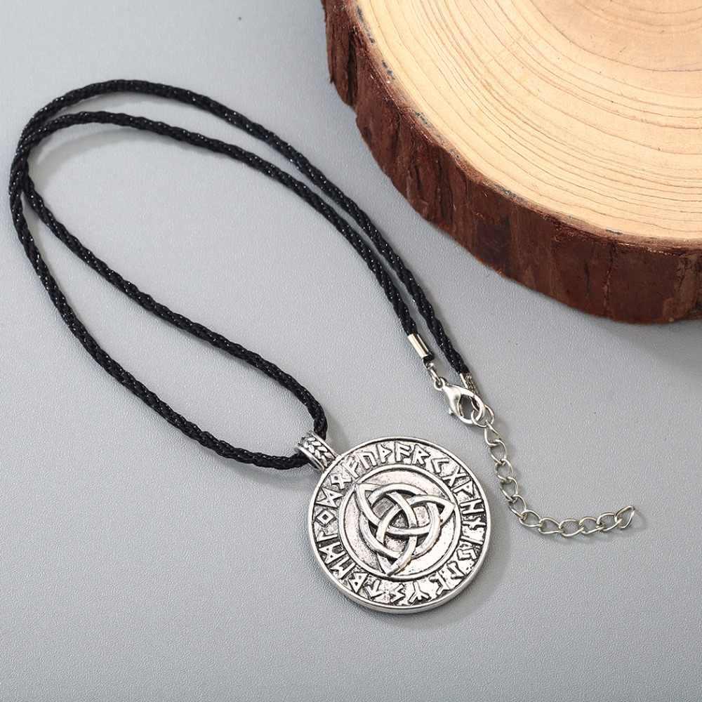 CHENGXUN mężczyzna naszyjnik w stylu Punk gotyk nordic amulet Wikinga wisiorek miłość węzeł nieskończona słowiański talizman biżuteria mężczyźni chłopiec naszyjnik