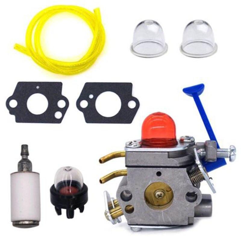 Carburateur pour Huqvarna tondeuse 545081848 C1Q W40A 128C 128L 128LD 128R 128RJ accessoires moteur joints + ampoule d'apprêt + filtre à carburant