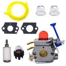 цена на Carburetor for Huqvarna Trimmer 545081848 C1Q W40A 128C 128L 128LD 128R 128RJ Engine Accessories Gaskets+Primer bulb+Fuel filte