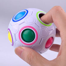 Fashion Kid Adult Ball Magic Cubes Toy Plastic Creative Rainbow Football Puzzle Children Learning Educational Fidget Toys(China)