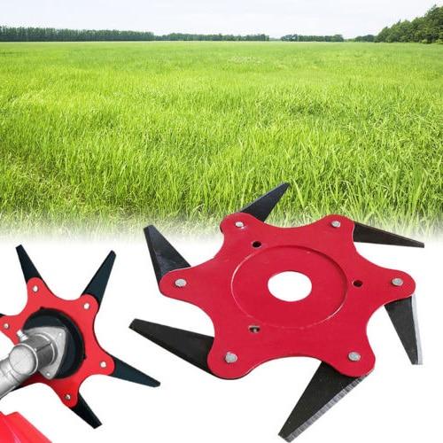6 Steel Razor String Trimmer Head Cutter Grass Tool For Lawn Mower Accessories6 Steel Razor String Trimmer Head Cutter Grass Tool For Lawn Mower Accessories