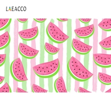 Laeacco Summer Watermelon Backdrop Pattern Portrait Photography Background Customized Photographic Backdrops For Photo Studio