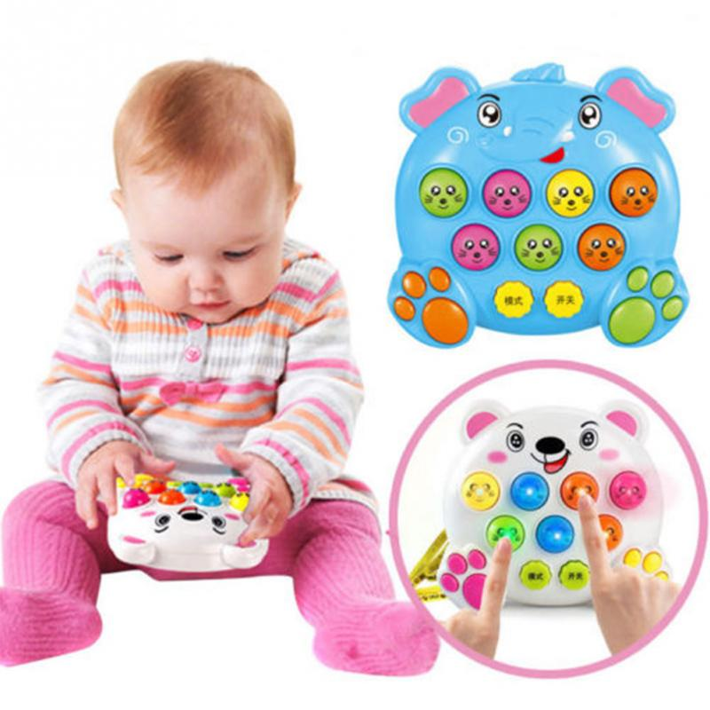 Baby Kids Plastic Music Instruments Toys Play Knock Hit Hamster Insect Game Playing Fruit Worm Educational Toy Funny Baby Gift