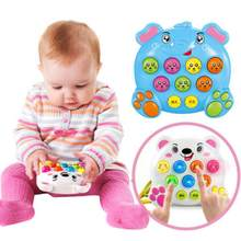 Baby Kids Plastic Music Instruments Toys Play Knock Hit Hamster Insect Game Playing Fruit Worm Educational Toy Funny Baby Gift(China)