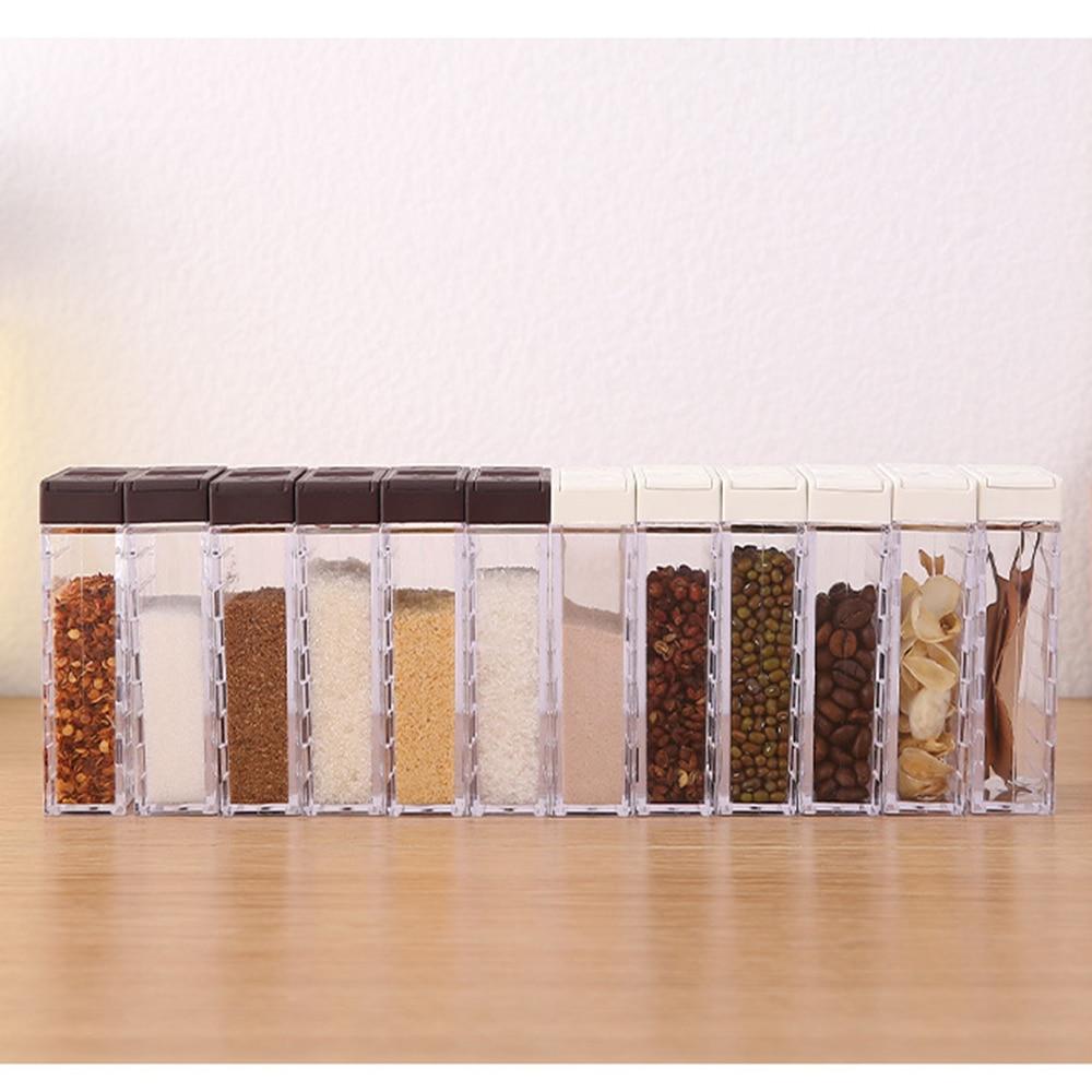 Jars Seasoning-Box Salt Storage-Bottle Cumin-Powder Pepper Spice-Jar Transparent New
