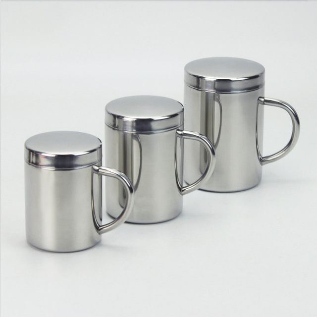 Double Insulation Stainless Steel Coffee Mug With Lid 1