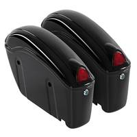1 Pair 26L Black Motorcycle Hard Trunk Saddlebags Sade Case ABS Hard Saddle Bags Side Box Fit Most Cruiser