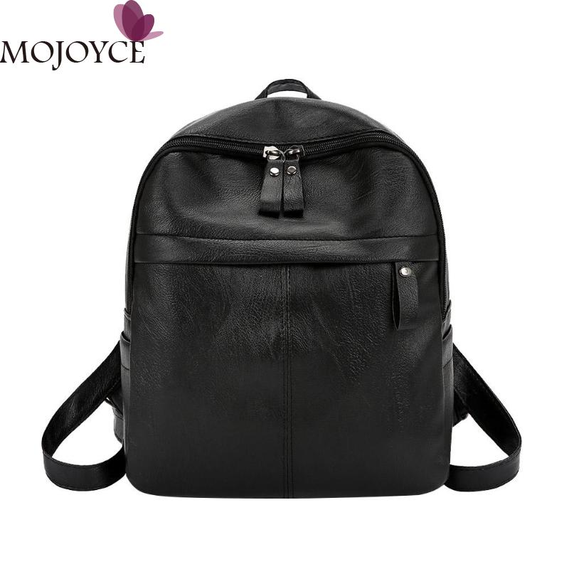 Casual Backpack Women Preppy Pu Leather Female Backpacks Teenager Travel School Bags Mochila Feminina Rucksack Mochilas Mujer