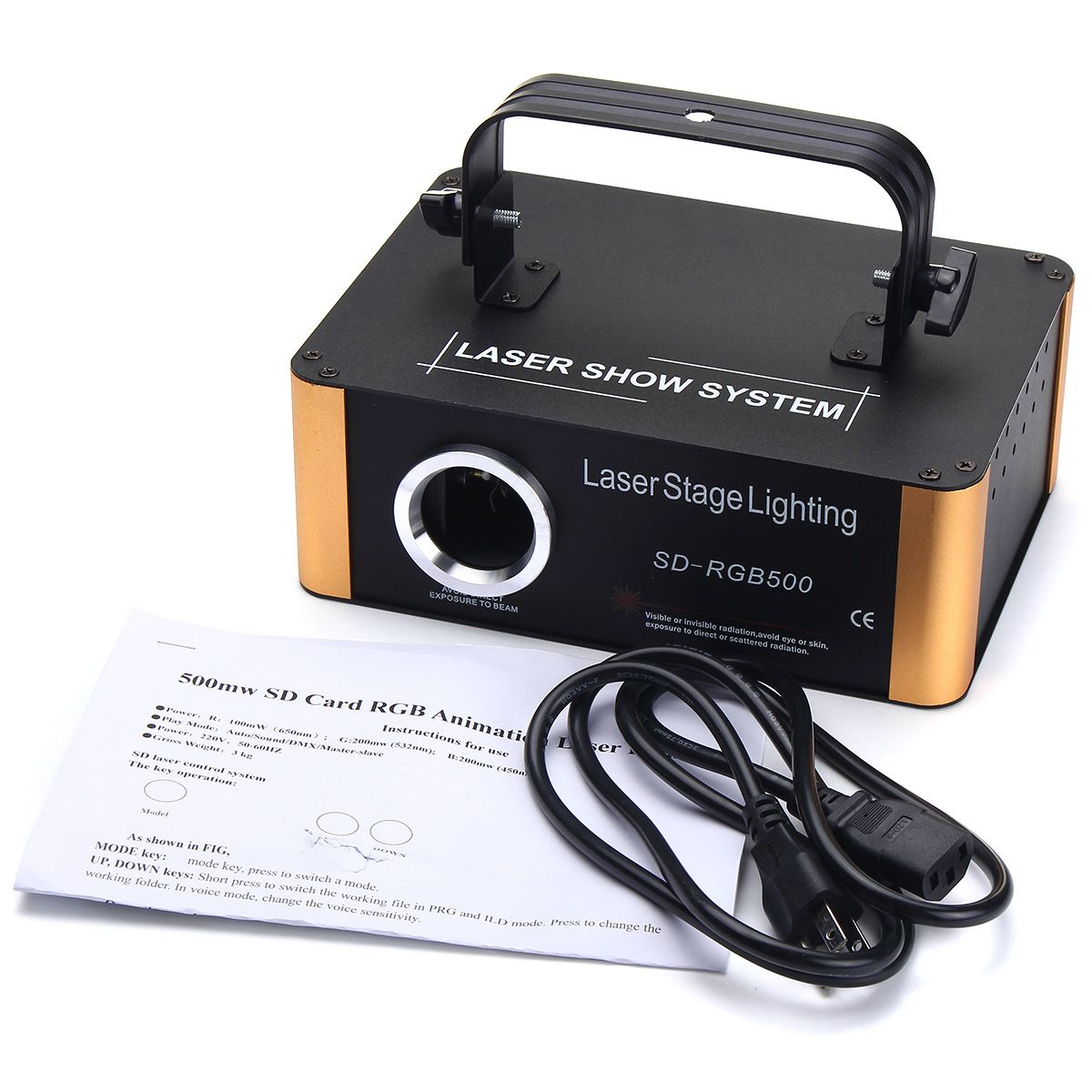 ARILUX 20 Вт 200 шаблоны RGB сценическое Лазерное освещение лампа DIY узор для sd карты дисплей ДИСКО Лазерная лампа для KTV Pub Вечерние