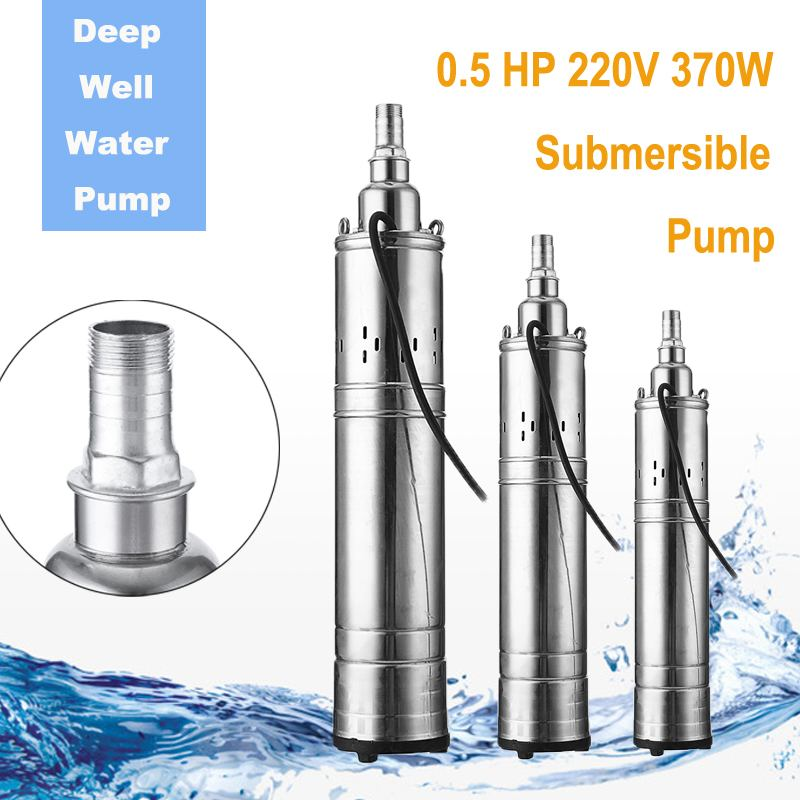 Electric Domestic / Deep Well Pump 220V 370W Irrigation Submersible Bore 0.5HP Deep Well Water Pump For Industrial GardenElectric Domestic / Deep Well Pump 220V 370W Irrigation Submersible Bore 0.5HP Deep Well Water Pump For Industrial Garden