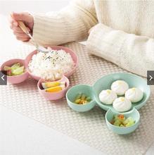 Dibujos Animados Ratón Mickey Bowl platos caja de almuerzo chico bebé niños bebé arroz cuenco de alimentación de plástico plato de aperitivos vajilla