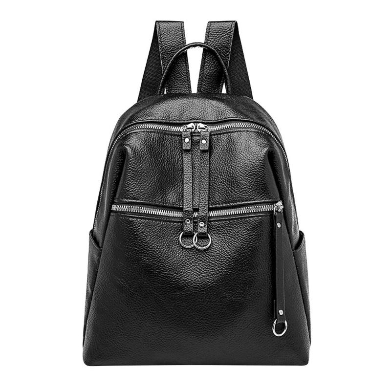 2018 Fashion Women Backpacks Soft PU Leather Backpack Shoulder Daypack Female Rucksack Mochilas Mujer Casual School Bag For Girl