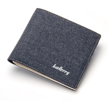 цена на Youth Wallet Men's Short Paragraph Tide Men's Canvas Wallet Simple Mini Wallet Personality Students