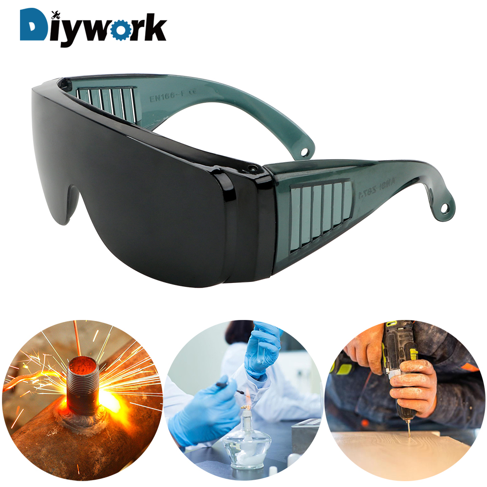 DIYWORK Safe Goggles Industrial Protective Safety Glasses Protector Cover Windproof Anti-Fog Spectacles Resistant