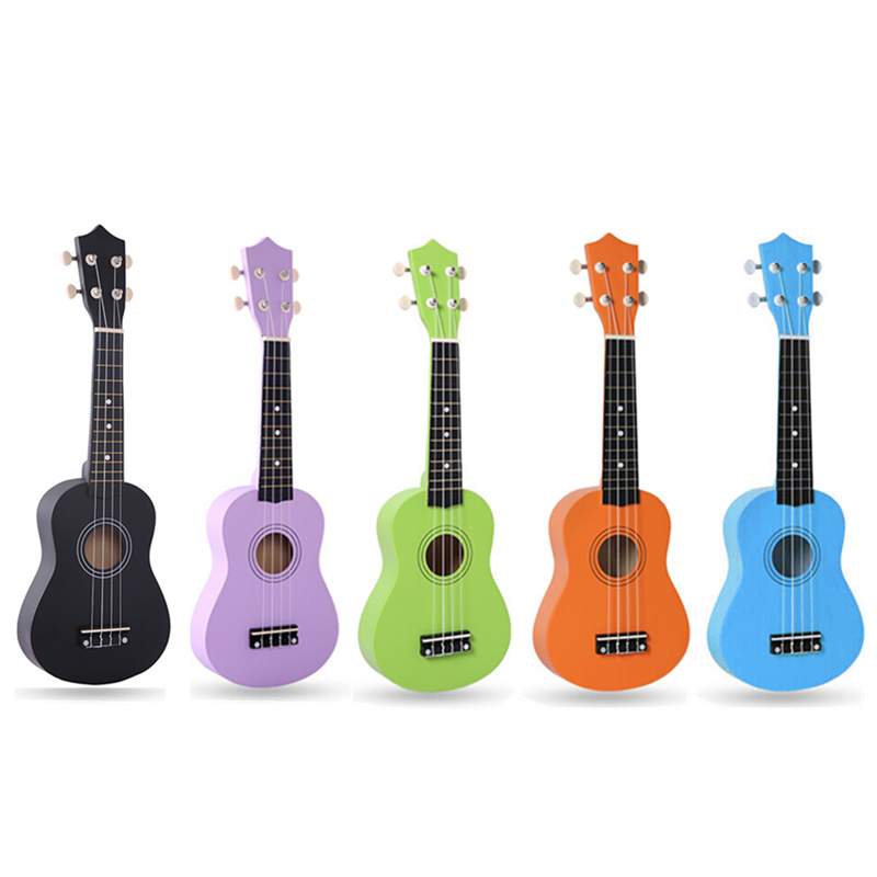 21 tommer IRIN 12 Frets Pure Color Basswood Ukulele Bright Tone 4 Strenge Hawaii Guitar Musical Instruments For Beginners