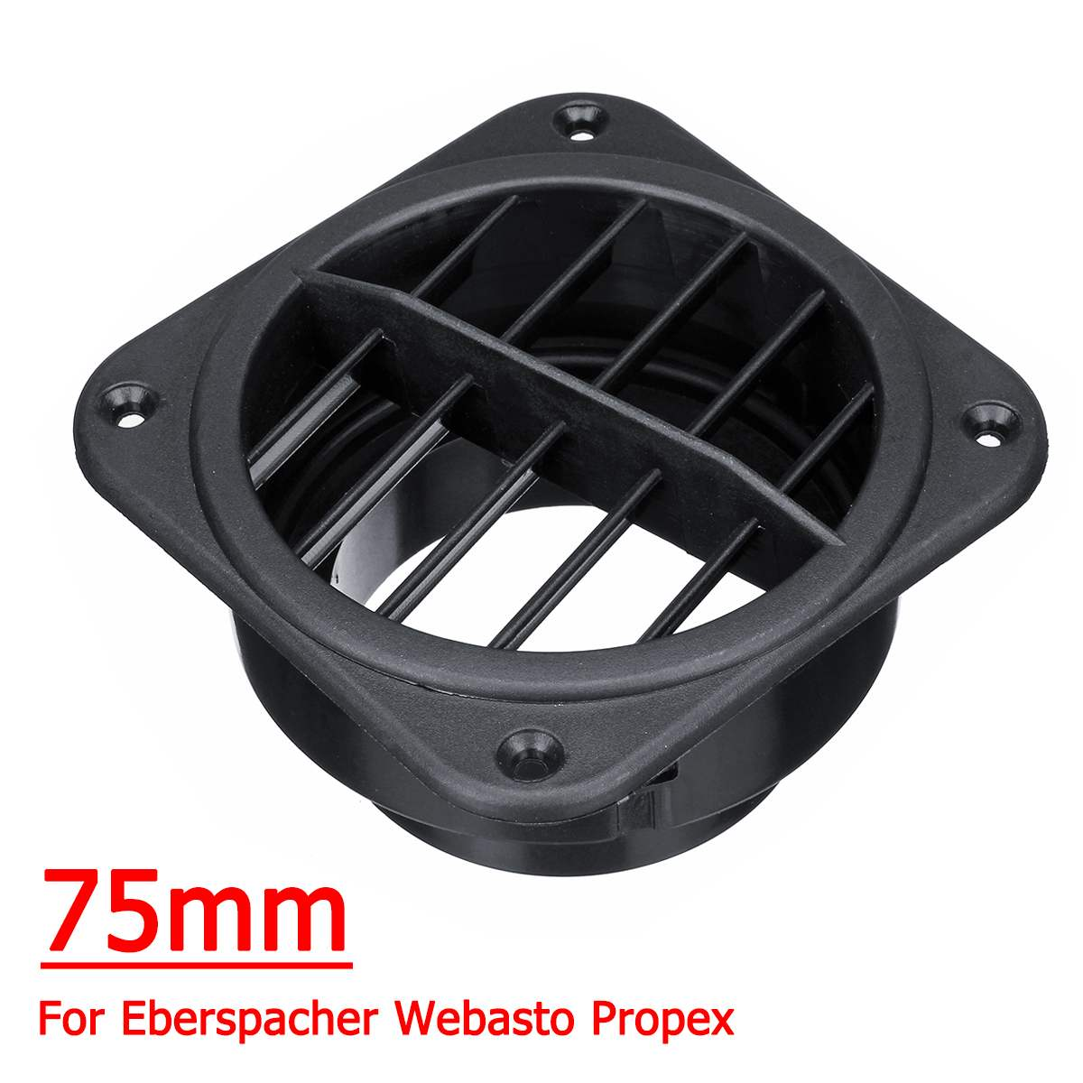 80mm Warm Heater Parking Heater Air Vent Car Heater Air Outlet Directional Rotatable for Webasto Truck Auto Parts