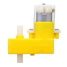 1 шт. 1: 120 DC 3-6V двухосевой L-type TT Мотор DC мотор-редуктор для автомобиля Arduino