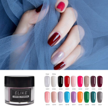 ELIKE organic nail dipping powder 10g shining on crack and chip resistant color dip DIY art decoration