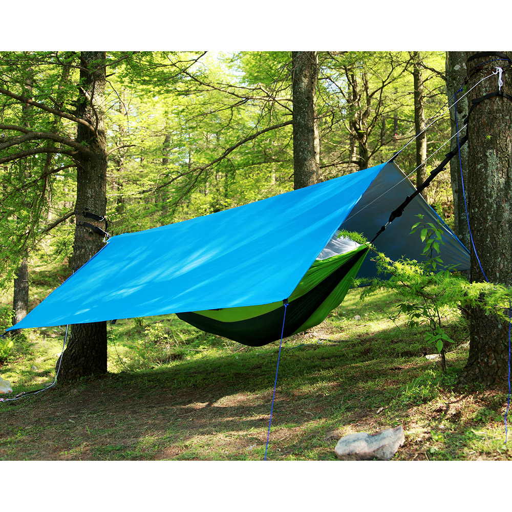 Outdoor Camping Mat Waterproof Rectangle Sunshade Sail Shelter UV Rain Resistant Tent Tarp Hammock For Picnic Travel Hiking in Sun Shelter from Sports Entertainment