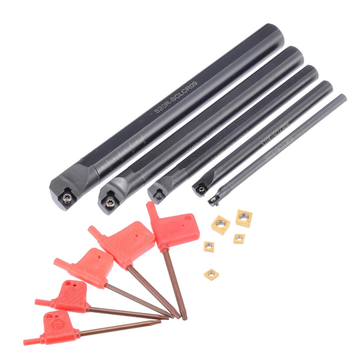 5 個高品質 SCLCR09 旋削工具ホルダボーリングバー 7/10/12/16/20 ミリメートル 5 個のインサート  グループ上の ツール からの ターニングツール の中 1