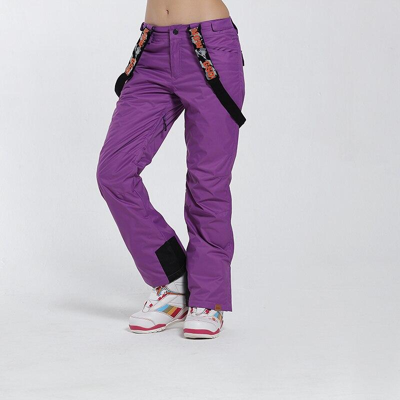 Pantalon de Ski de marque Gsou Snow femme pantalon de Snowboard imperméable pantalon de Ski respirant hiver Sport de plein air pantalon de Ski de montagne - 3