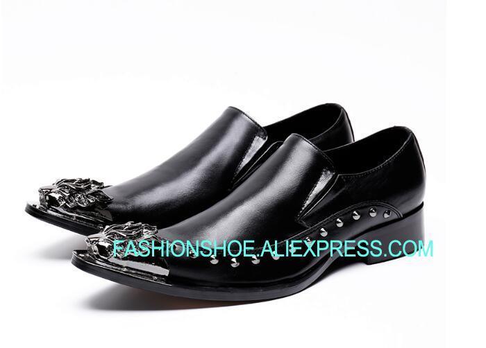 869b51afcd2 Hecho-a-mano-de-Metal-zapatos-de-boda-vestido-de-fiesta-Zapatos -negro-traje-Formal-Oxfords.jpg