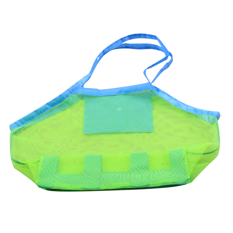 Swimming Accessories Swimming Bags Portable Beach Bag Foldable Mesh Swimming Bag For Children Beach Toy Baskets Storage Bag Kids Outdoor Swimming Waterproof Bags