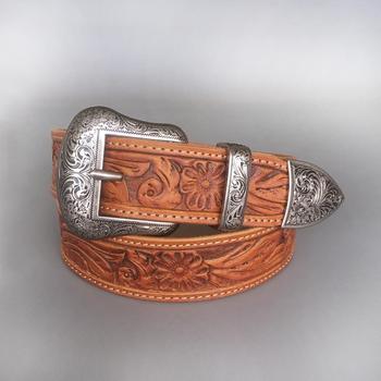 4bc71f41 Venta al por mayor y al por menor nuevo Vintage Pin hebilla de cinturón  hecho a mano vaquero vaquera Western correa de cuero genuino