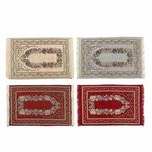 110*70 CM muzułmański dywanik do modlitwy dywan Mat Ramadan Eid prezent bawełna klęcząc dywan mata do jogi turecki islamski sypialnia Home Decor