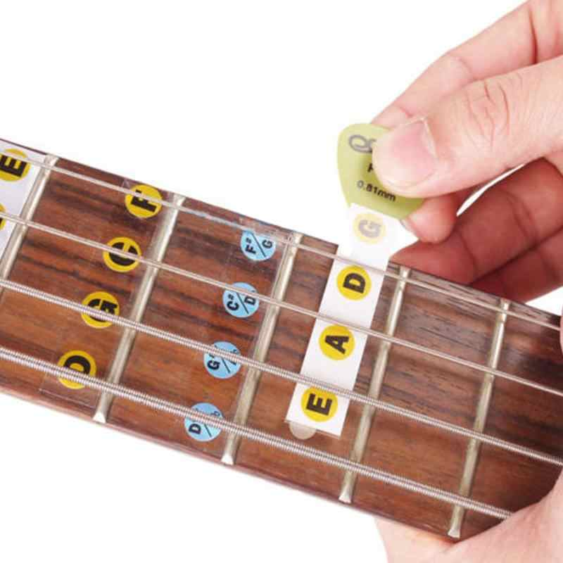 2 قطعة/الحزمة الغيتار باس الغيتار جزء الملحقات فريتس الأصابع ملاحظة التسمية العفريت ملصقات الأصابع ملاحظة التسمية العفريت