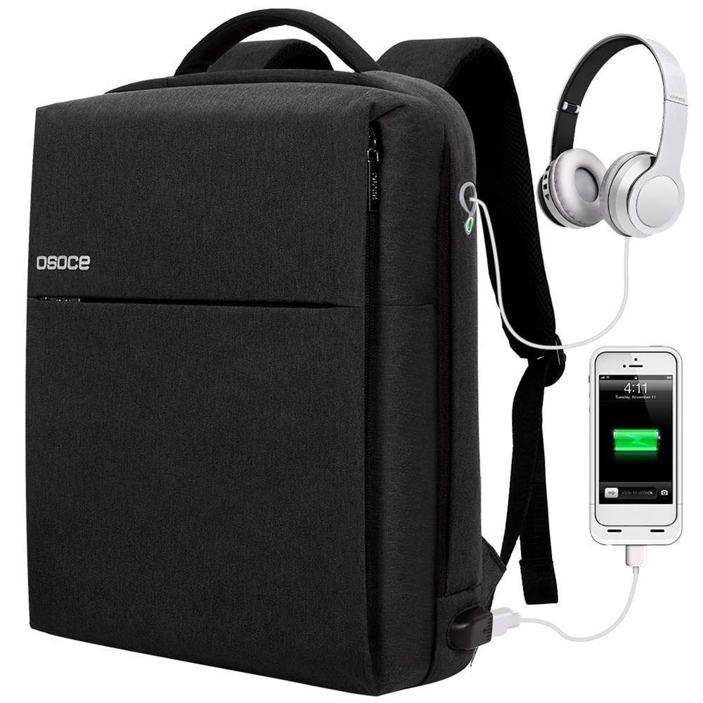 OSOCE S7 15 6 Inch Laptop Backpack Business Waterproof Anti theft Computer Bag with Lock USB