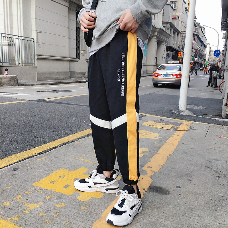 Men's Trousers Pants Clothing Overalls Foot-Harem Loose Summer Casual Beam New Business
