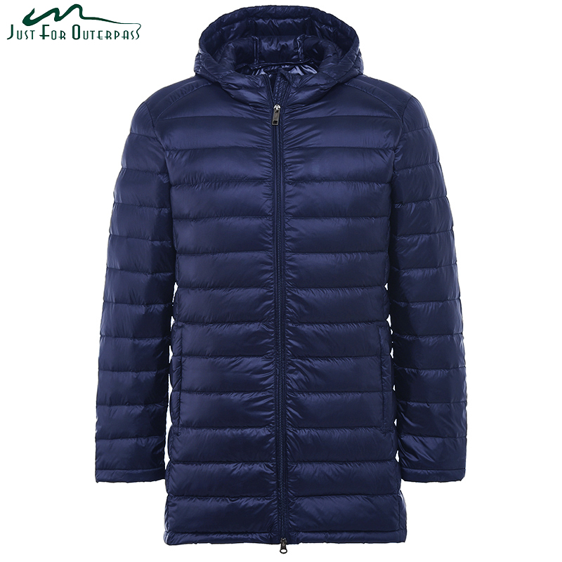 2019 New Men Ultra Light Down Jacket Spring Autumn Winter Long Down Coat Water Resistant Windproof Warm Duck Down Hooded Parkas(China)