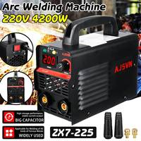 New 220V Adjustable 20A 225A 4200W Handheld IGBT Inverter Arc Welder Welding Machine Digital Display Mini Portable Welding Tool