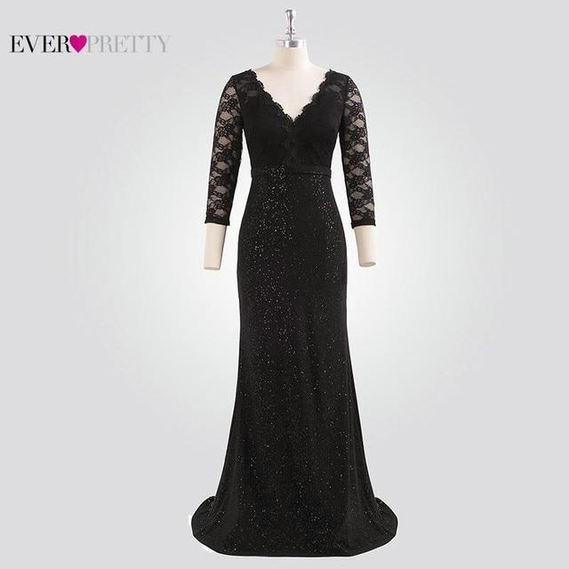 a14d94211df Sparkle Evening Dresses Long 2019 Ever Pretty EP07856 Women Elegant Half  Sleeve Lace V-neck