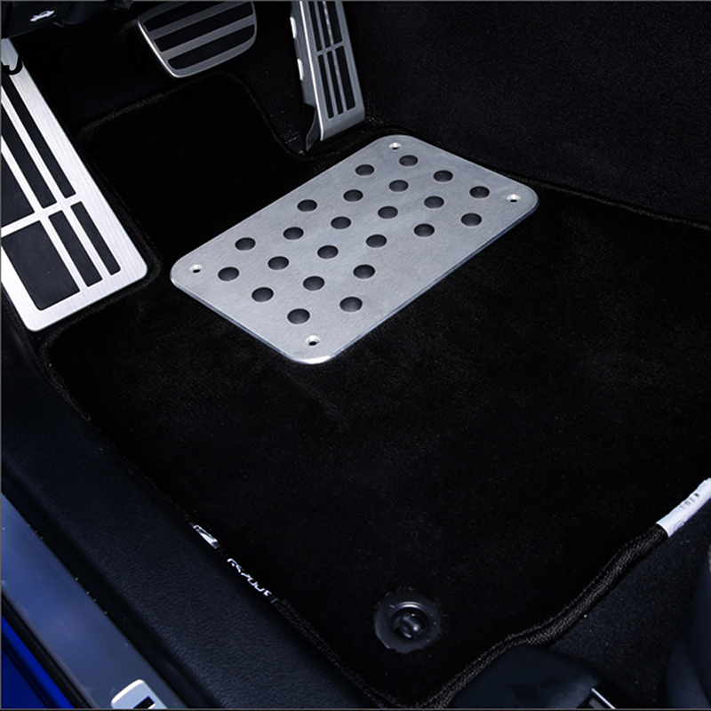 30*20cm Car Inner Floor Carpet Mat Patch Foot Pedal Aluminum Car Floor Mat Pad Carpet Heel Plate Accessory(China)