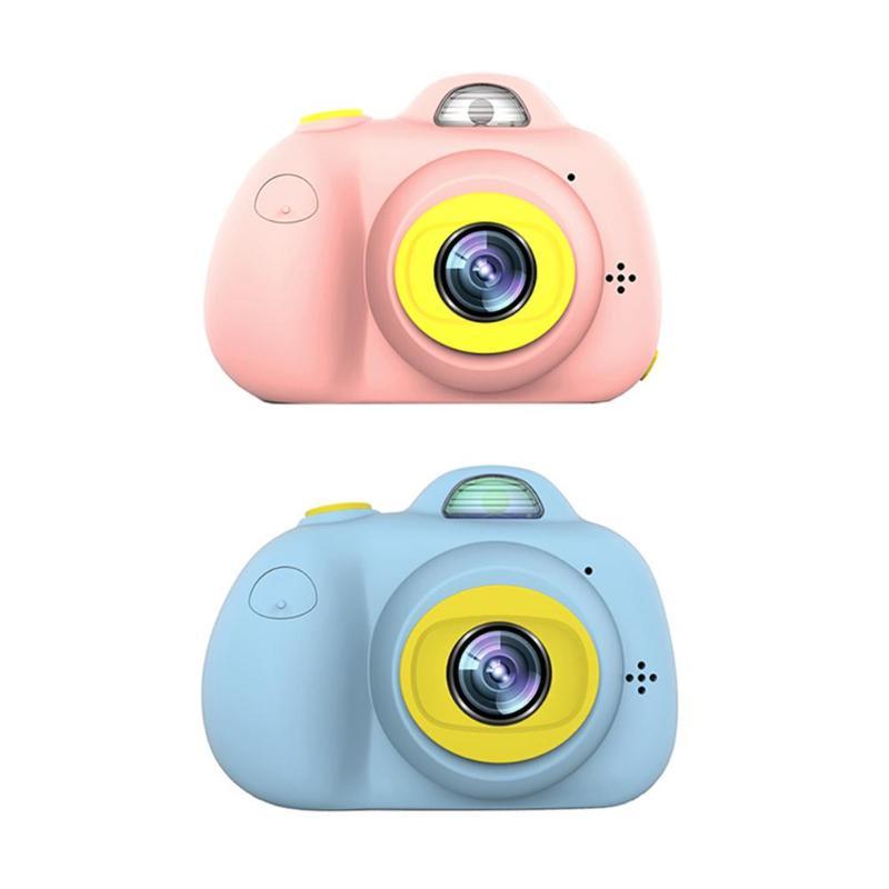 2 pulgadas HD pantalla recargable Mini cámara Digital niños dibujos animados lindo Cámara juguetes fotografía al aire libre accesorios para regalo de cumpleaños para niños