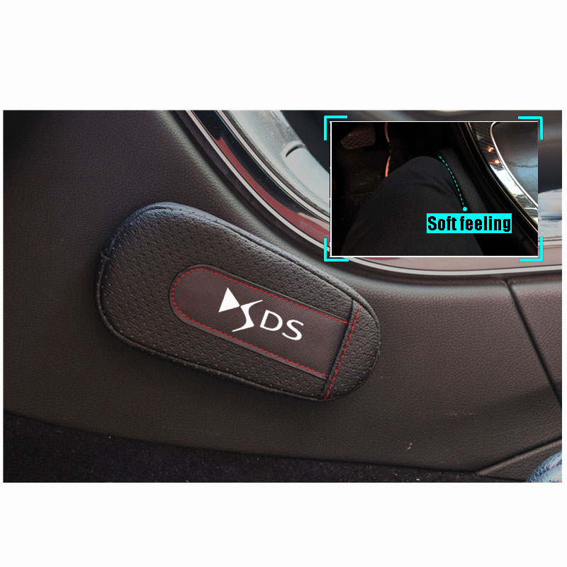 Soft Leather Memory Cotton Leg Cushion Knee Pad Armrest Pad Interior Car Accessories For Citroen Ds