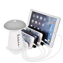 Usb зарядная станция для нескольких устройств 5 портов быстрое зарядное устройство настольный док-органайзер с 3,0 совместим с iPhone iPad