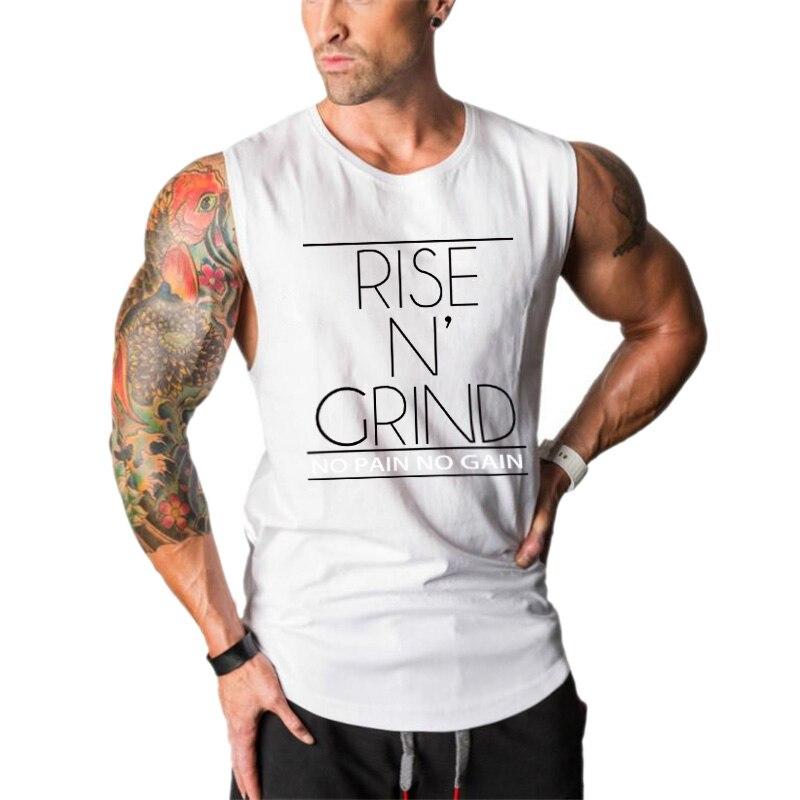 New Muscleguys Mens Bodybuilding Clothing Gym Tank Tops Men Sleeveless Shirt Vest Fitness Singlets Gyms Cotton W