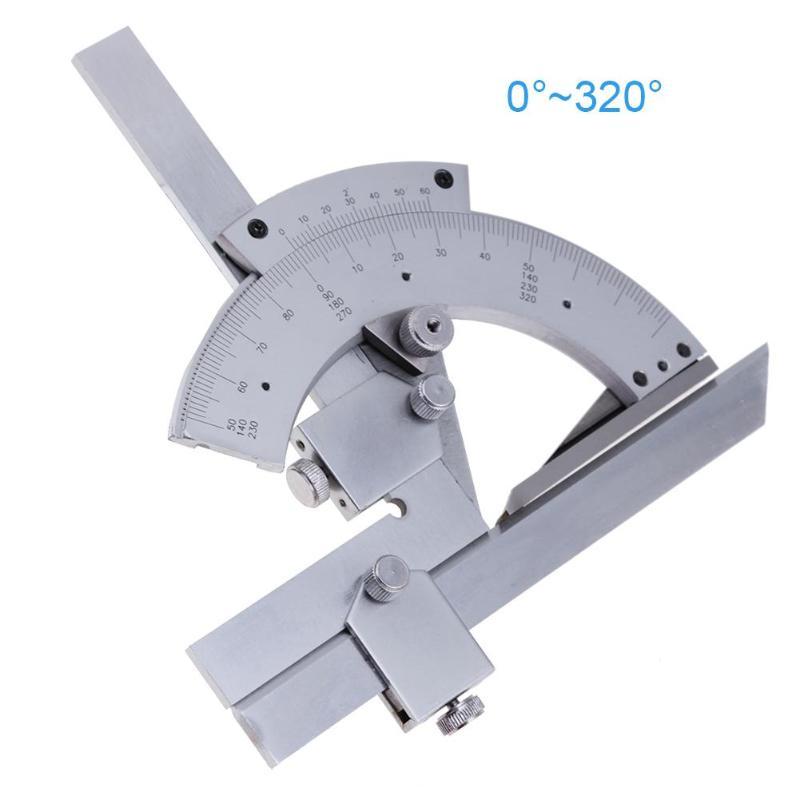 Universal transportador 0-320 grados de precisión goniómetro Ángulo de medición de gobernante herramienta de carpintería herramienta de medición