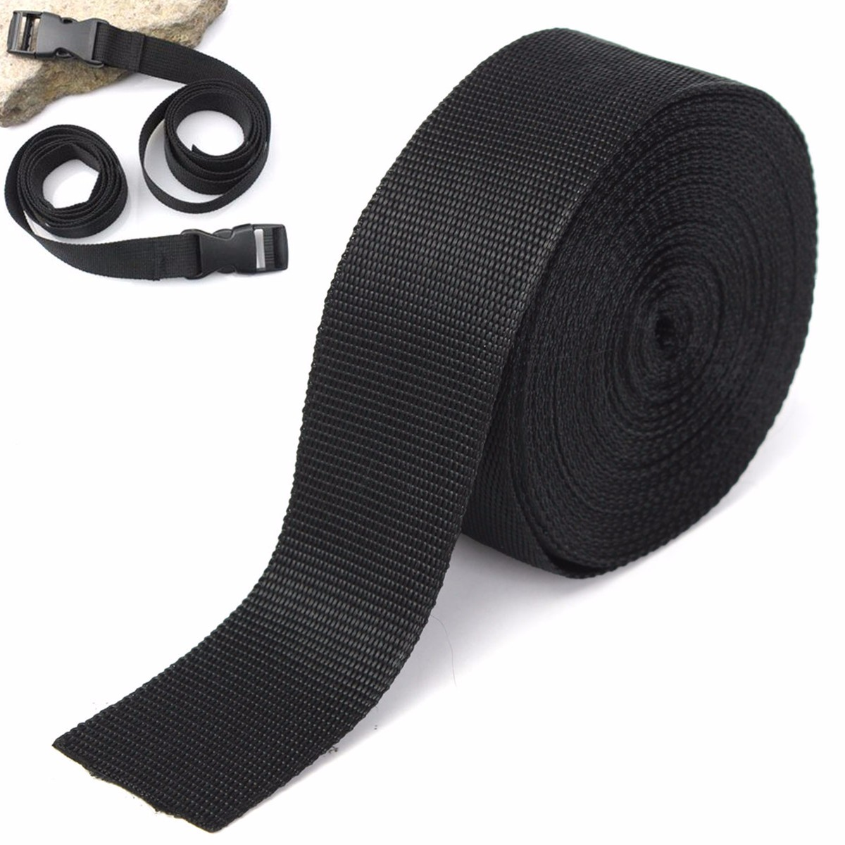Learned Black 50mm 2 Inch Nylon Webbing X 10 Meters Sporting Goods Other Sewing Buy 2 Get One Free