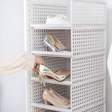 Съемный бытовой ящик шкаф Органайзер полка для хранения одежды корзина Отсек пластиковый полый ящик многослойная перегородка