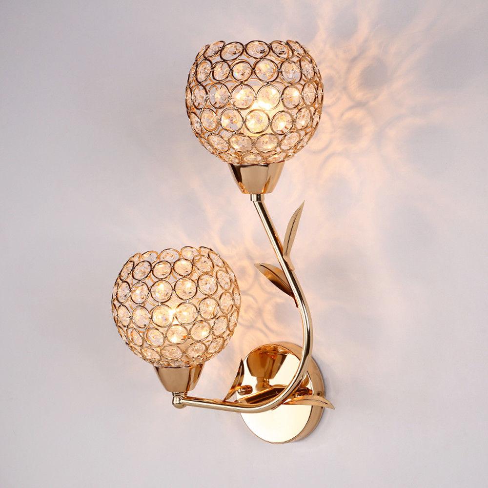 Modern Led Crystal Wall Lamp Sconce Light Bulb Bedroom Bedside Hallway LightingModern Led Crystal Wall Lamp Sconce Light Bulb Bedroom Bedside Hallway Lighting