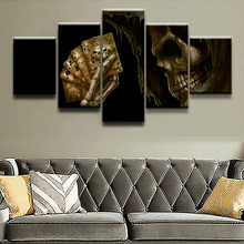 Poster 5 Pieces Dark Grim Reaper Skull Home Decor For Living Room Modern Canvas Printed Pictures Wall Art Painting Artwork