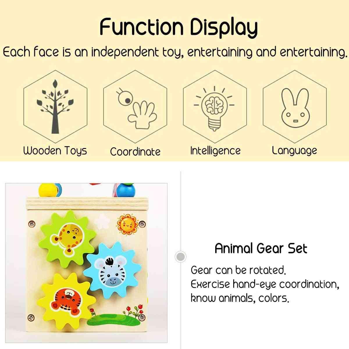 Многофункциональные 5 в 1 деревянные игрушечные бусинки круги из бисера счеты часы обучение по головоломкам развивающие игрушки подарок для детей