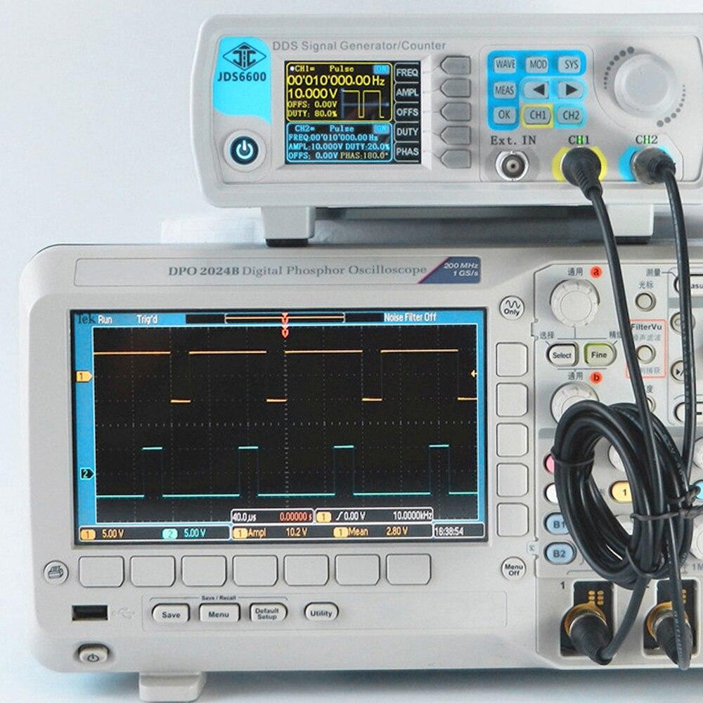 JDS6600 60M 60MHZFunction Signal Generator Digital Dual channel DDS Arbitrary Waveform Pulse Signal Generator Precision Meter