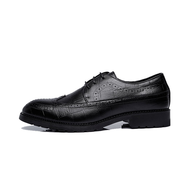 Black Dos gray Se Vestem Clássico Cavalheiro Business Casual Luxo Homens Couro Sapatos De brown qwgOnUTPz