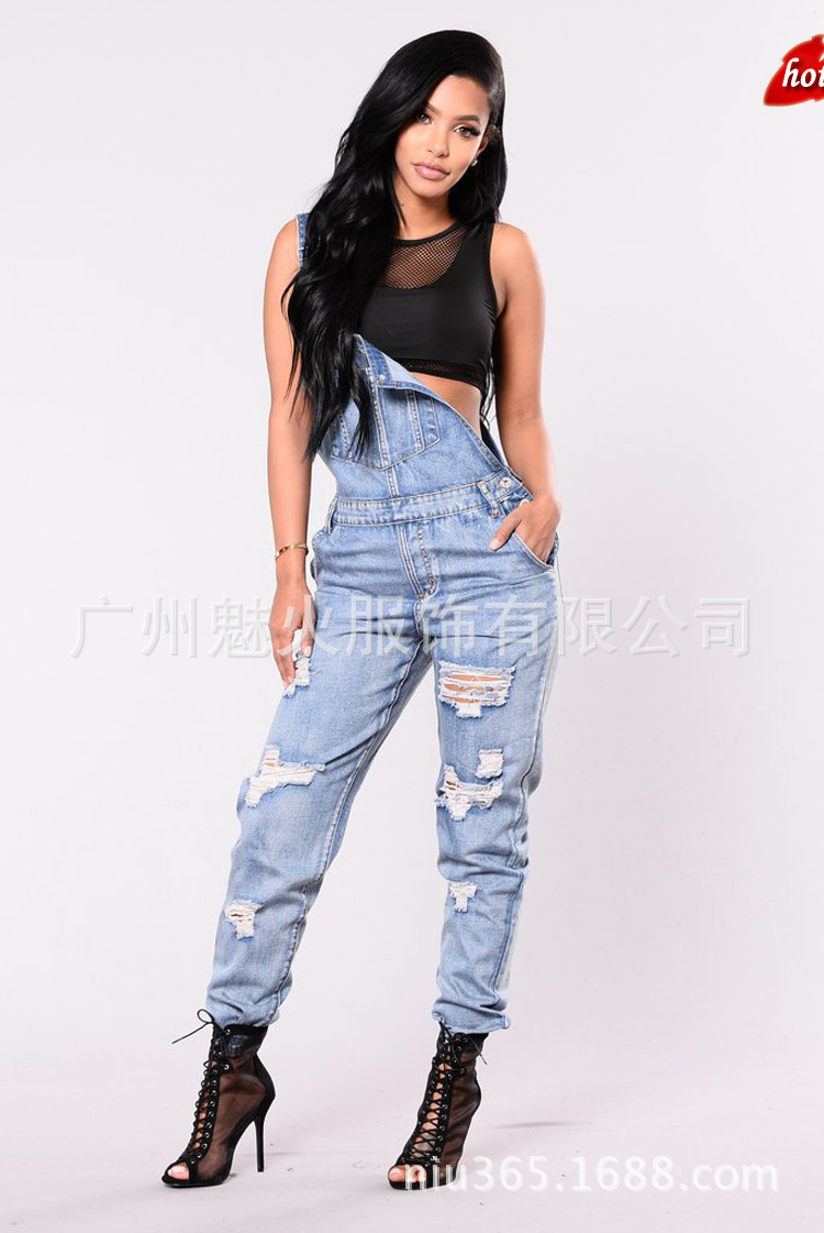 2018 New Women Overalls   Jeans   Ripped   Jeans   Cotton Slim Vintage High Waist Denim   Jeans   Pants Skinny   Jeans   Woman Plus Size O8R2