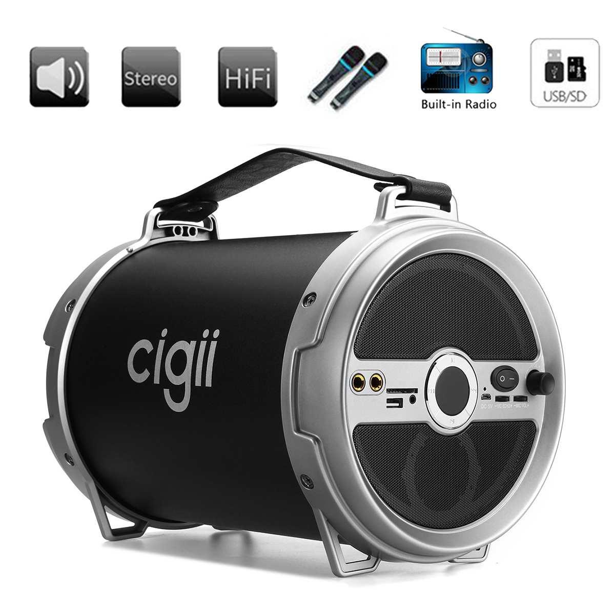 Haut-parleur bluetooth sans fil Portable haut-parleur stéréo musique FM Raido AUX cartes SD Jack pour tablette téléphone Portable haut-parleurs extérieurs
